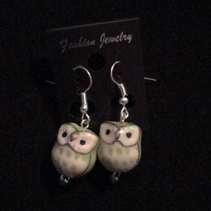 Glass Owl Earrings